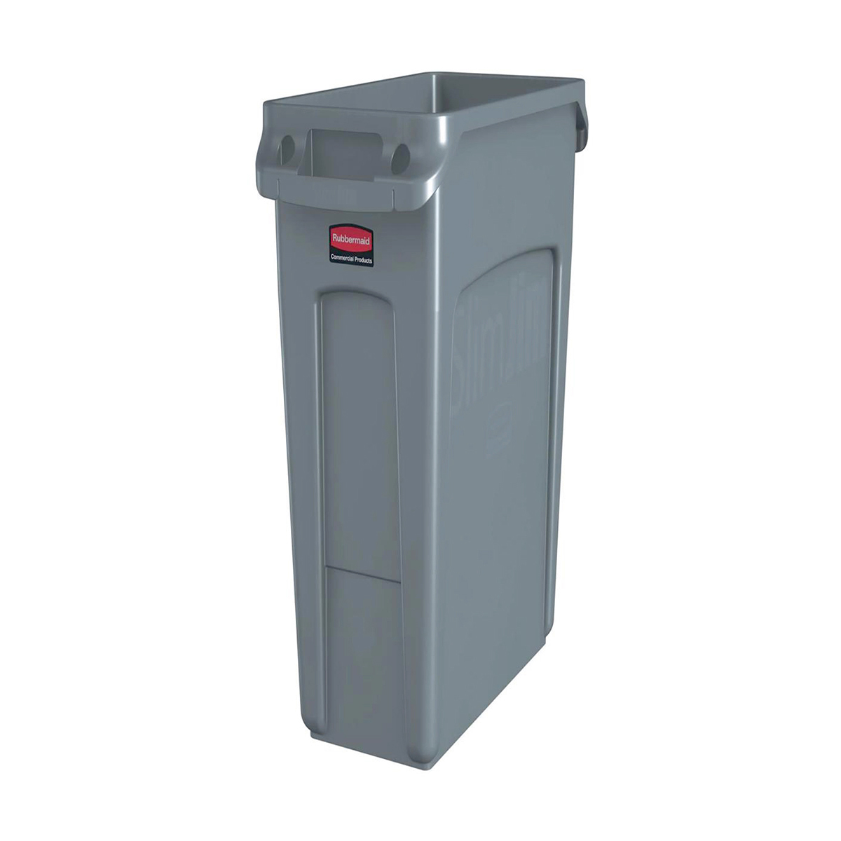 Recycling Bins Rubbermaid Slim Jim Recycling Container Bin 60 Litre Capacity 558x279x635mm Grey Ref 1971258