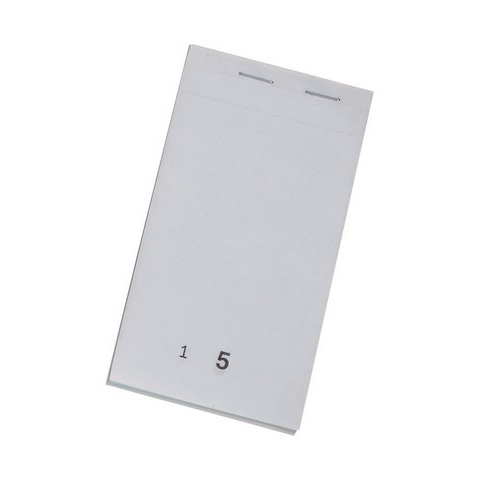 Receipts or receipt books Duplicate Service Pad Numbered 1-50 and Perforated 140x76mm Pack 50