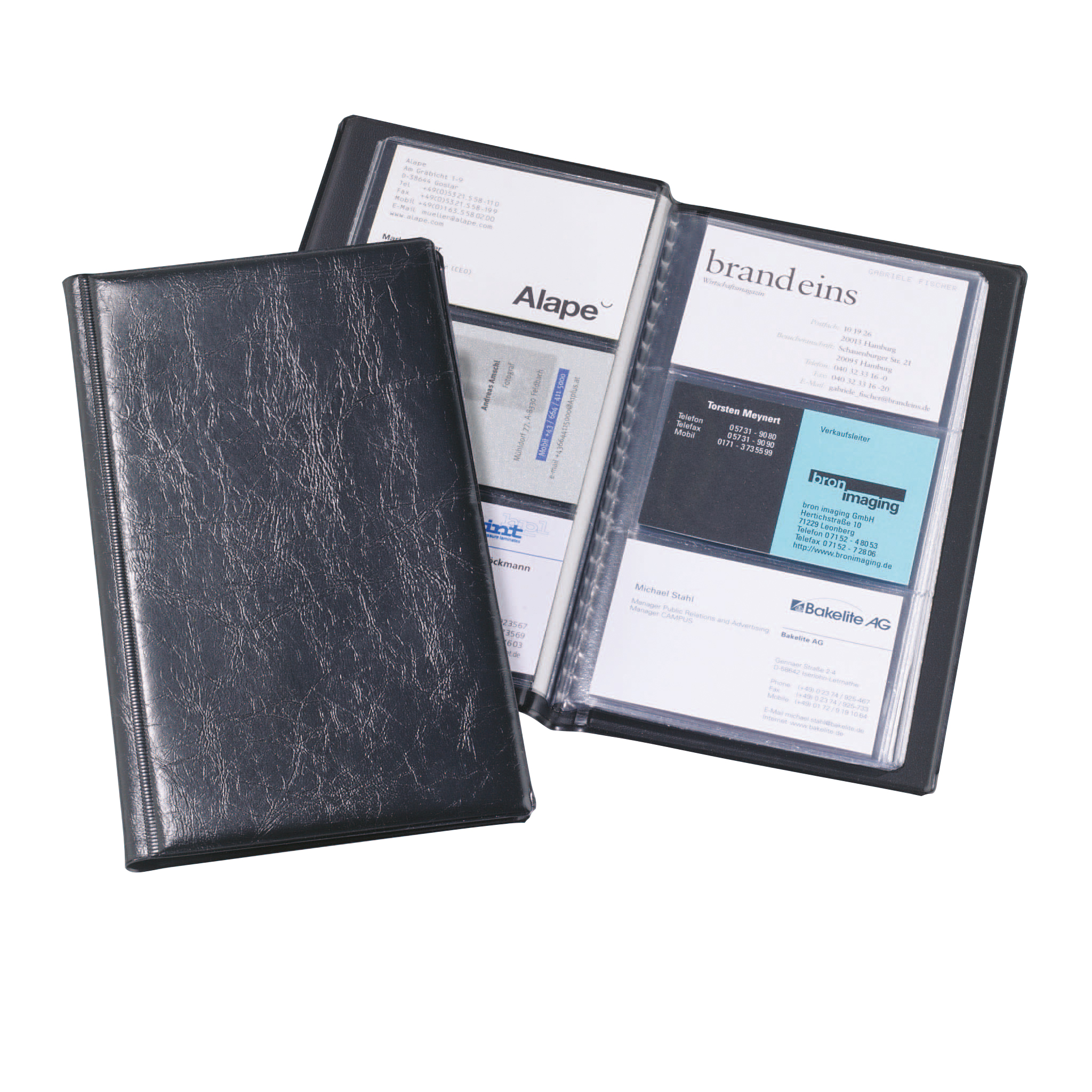 Binders Durable Visifix Business Card Album Capacity 72 Black Ref 2400/01