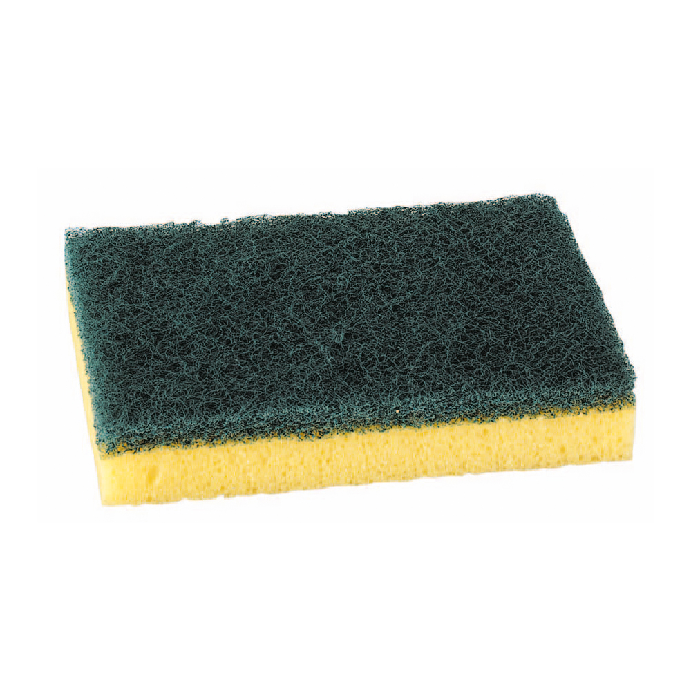 Cloths / Dusters / Scourers / Sponges Sponge Scourer Recycled Non-Scratch Heavy Duty Blue Pack 10