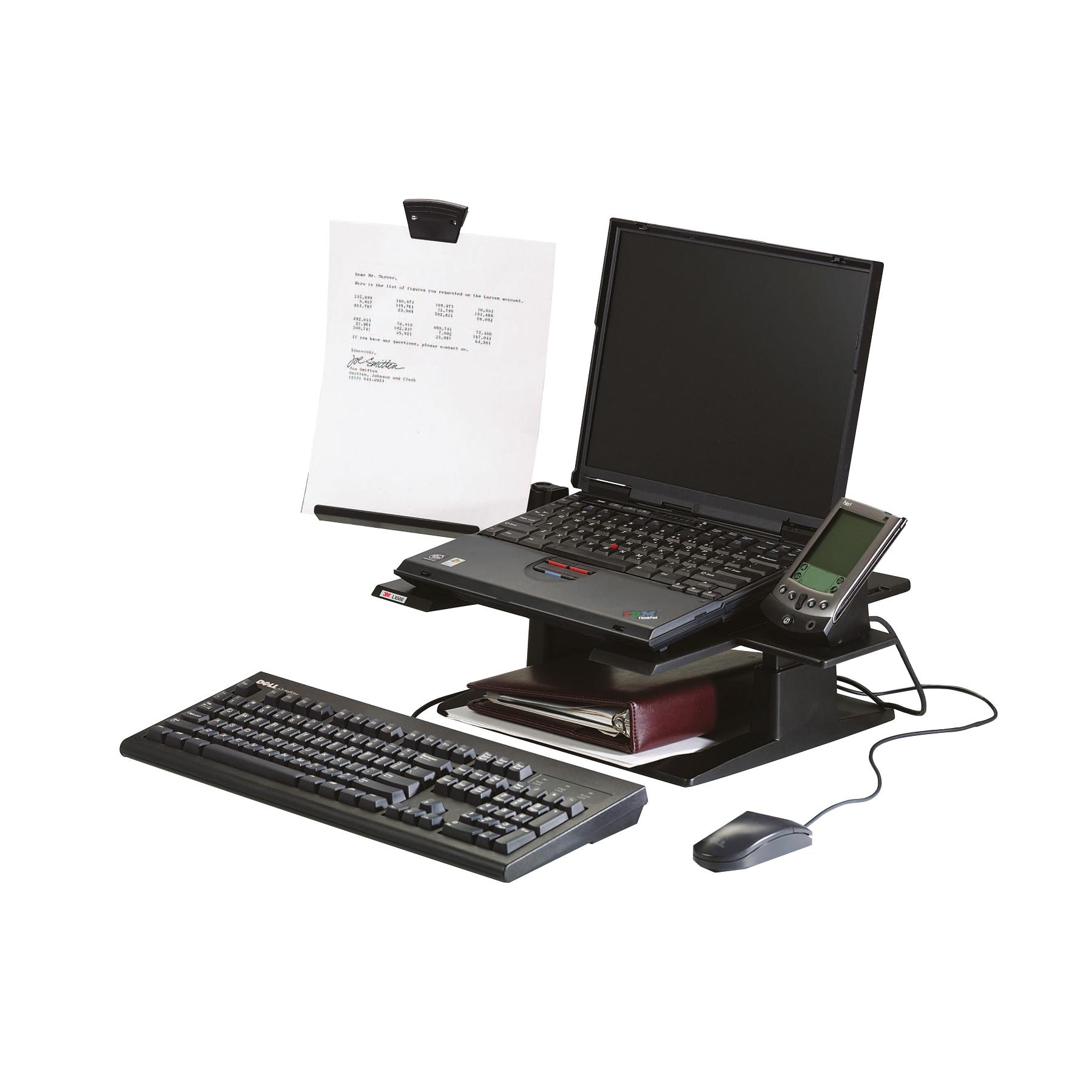 Risers / Stands 3M Notebook Riser Ergonomic Black Ref LX500
