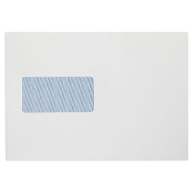 Window envelopes Blake Premium Office Envelopes Pocket P&S Window 120gsm C5 Ultra White Wove Ref 34116 Pack 500