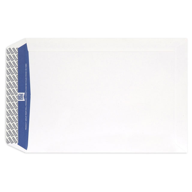 Standard envelopes Blake Premium Pure Envelope C4 Recycled Pocket Wove P&S 120gsm Super White Ref RP84891 Pack 250