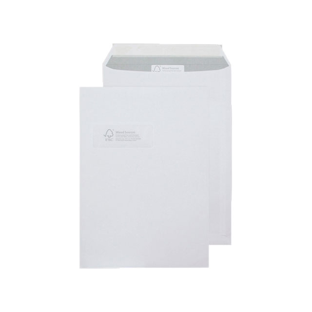 Standard envelopes Blake Purely Environmental Envelopes Pocket Peel & Seal Window 110gsm C4 White Ref FSC068 Pack 250