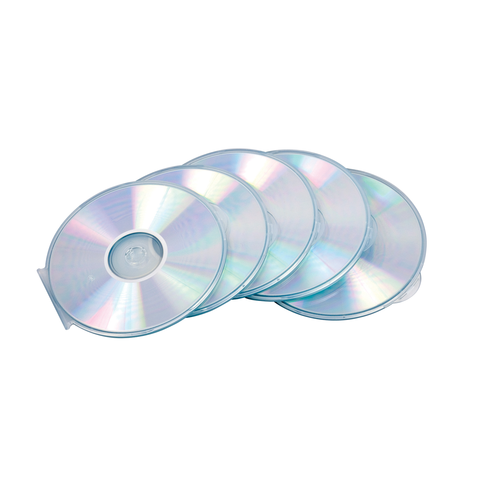 Compact disk cases Fellowes CD Cases Round Slimline Clear Ref 9834201 [Pack 5]
