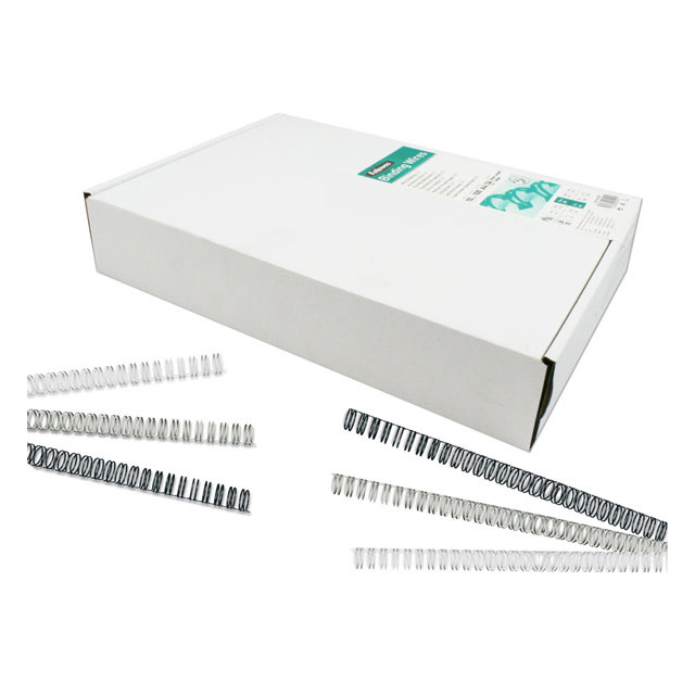Binding coils or wire loops Fellowes Wire binding Combs 14mm Capacity 101-130 80gsm Sheets Black Ref 53277 [Pack 100]