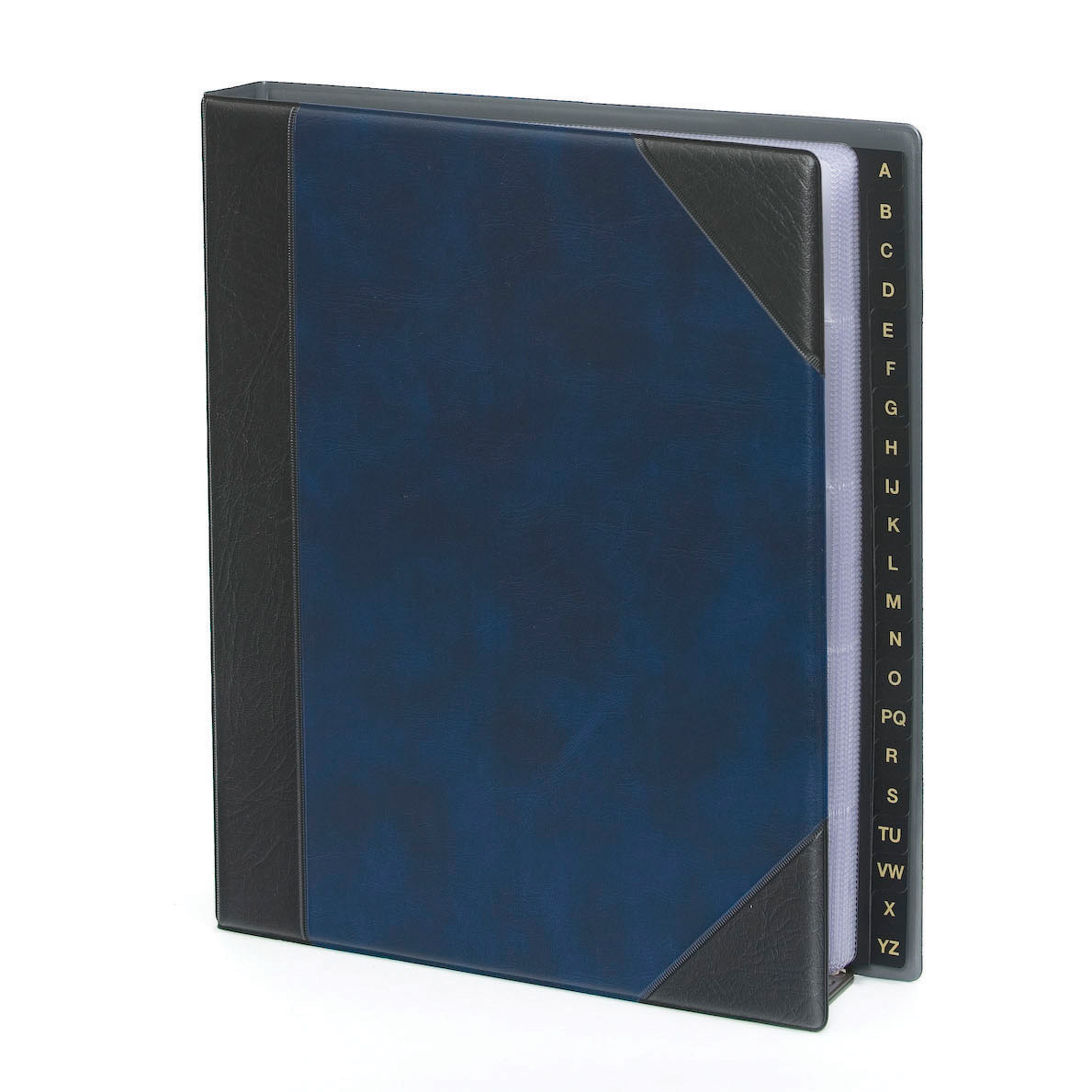 Goldline Telephone Address Book A-Z Lay Flat Punched 3 Holes A5 Blue Ref DTAA5/BLZ