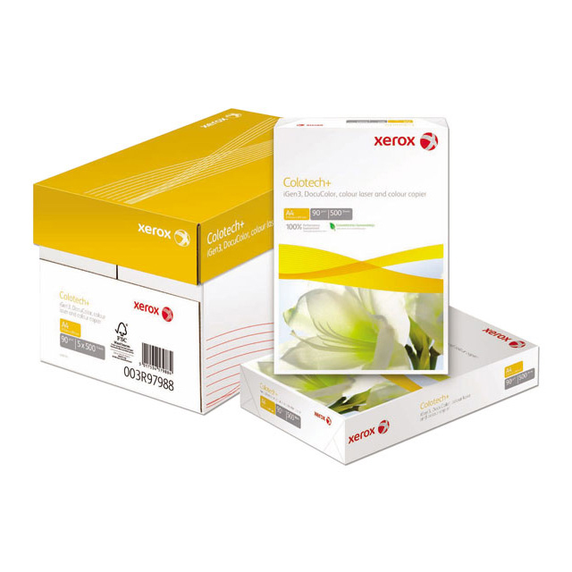 Card (160g+) Xerox Colotech+ Paper Super Smooth Finish Wrapped 160gsm A3 White Ref 003R98854 Pack 250