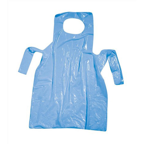Protective aprons Polythene Aprons On Roll Disposable Perforated 17 Micron 690x1170mm Blue Pack 200