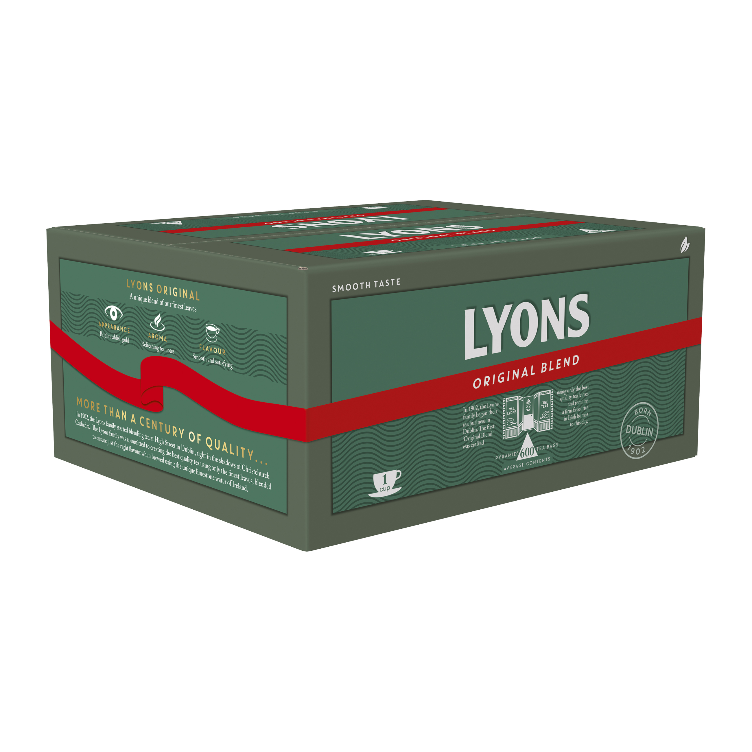 Lyons Green Label Tea Bags 1 Cup Ref lyontea600 Pack 600