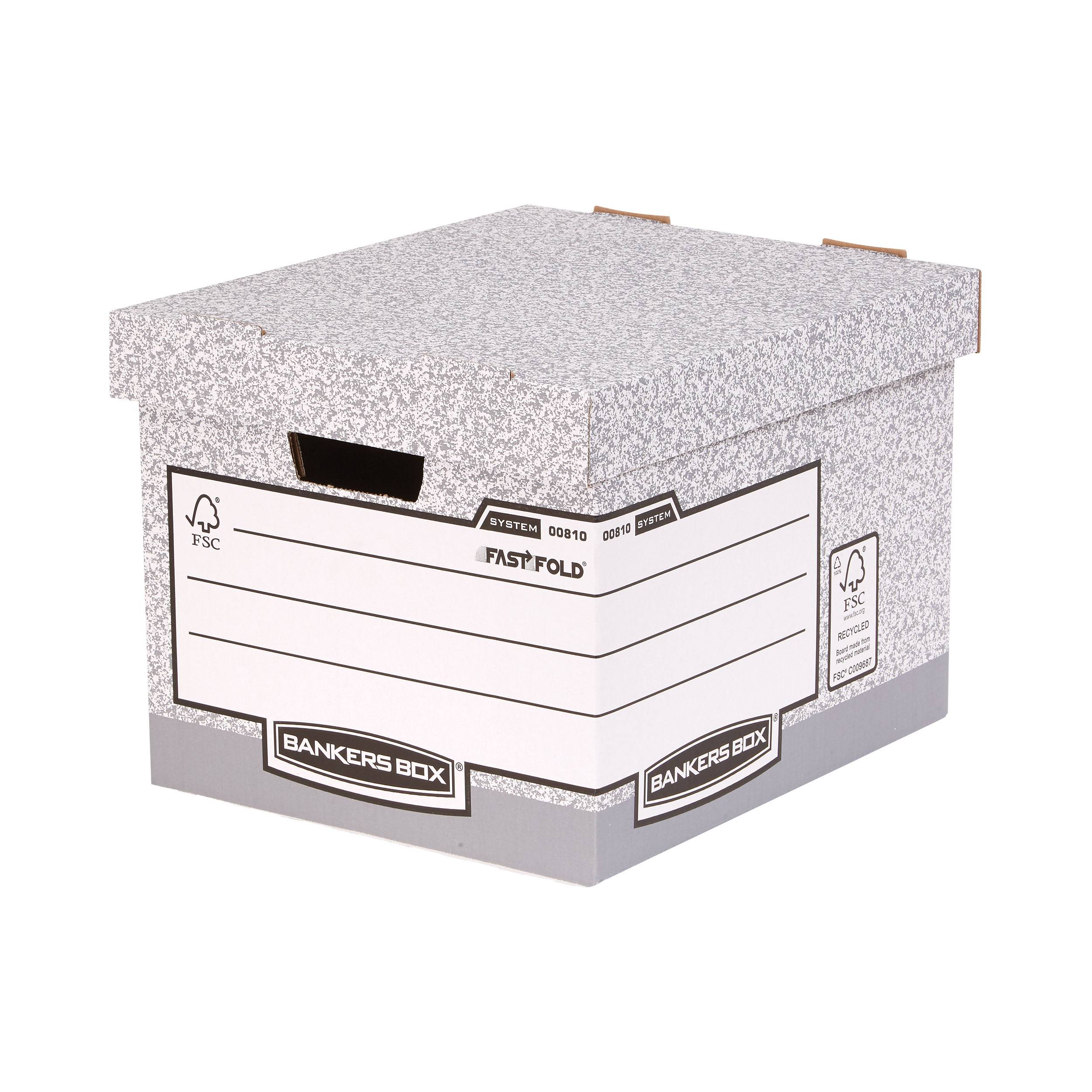 Storage Boxes Bankers Box by Fellowes System Standard Storage Box Foolscap FSC Ref 00810-FF Pack 10