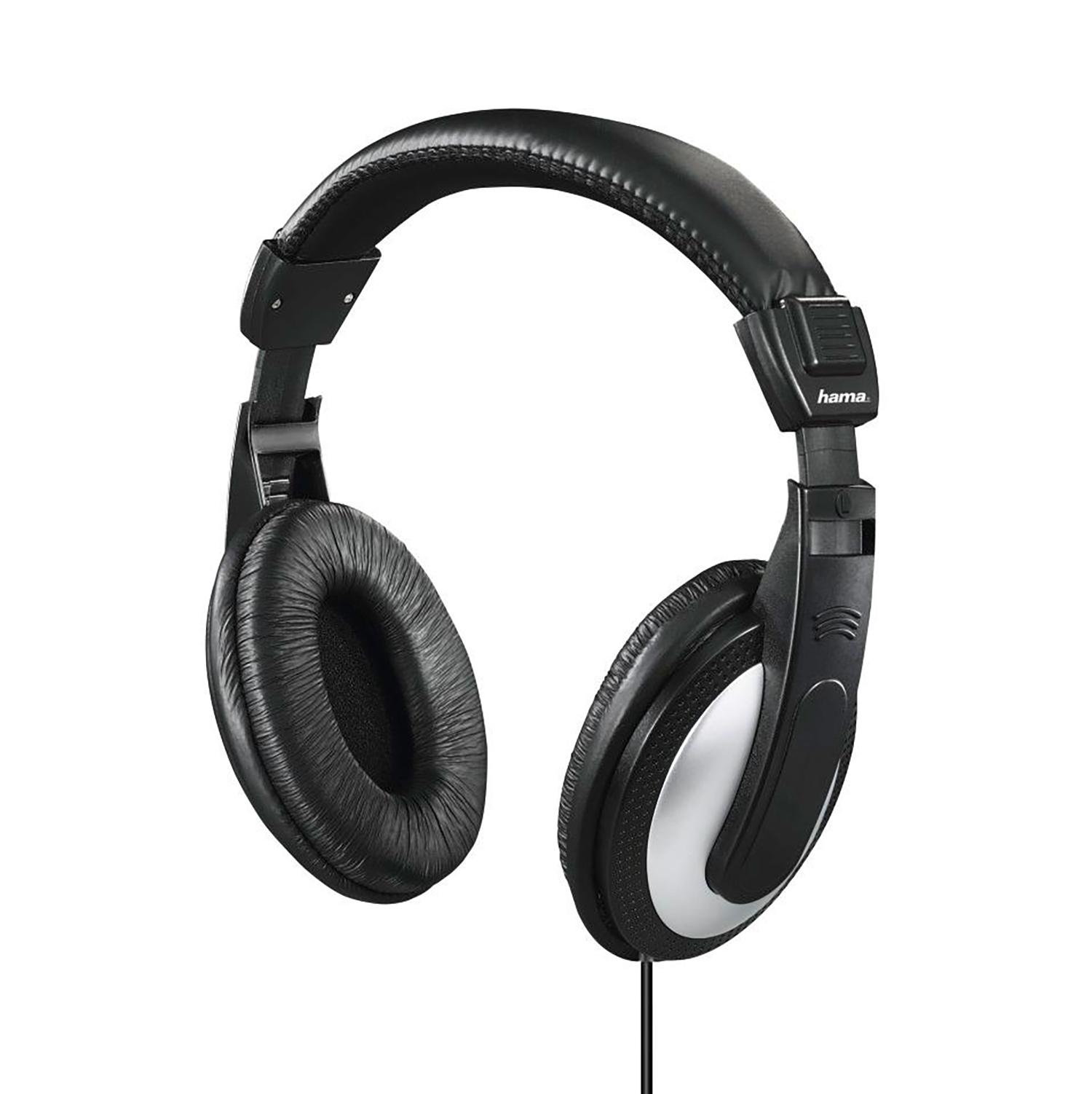 Hama Headphones Padded Over-Ear Circumaural Stereo 6m Cable Black Ref 00135619