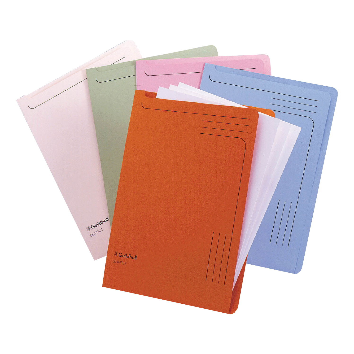 Guildhall Slipfile 230gsm Capacity 50 Sheets A4 Orange Ref 4607Z [Pack 50]