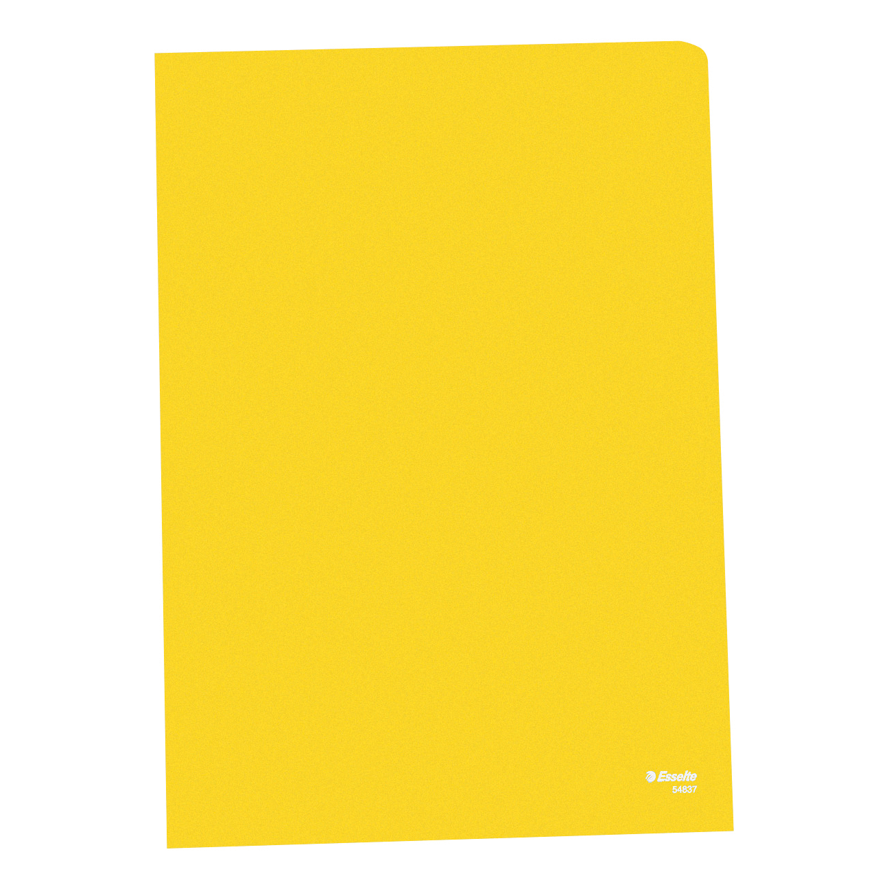 Esselte Copy-safe Folder Plastic Cut Flush A4 Yellow Ref 54842 Pack 100