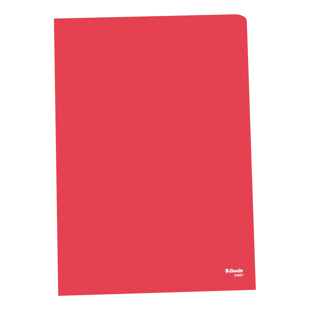 Esselte Copy-safe Folder Plastic Cut Flush A4 Red Ref 54833/54834 Pack 100