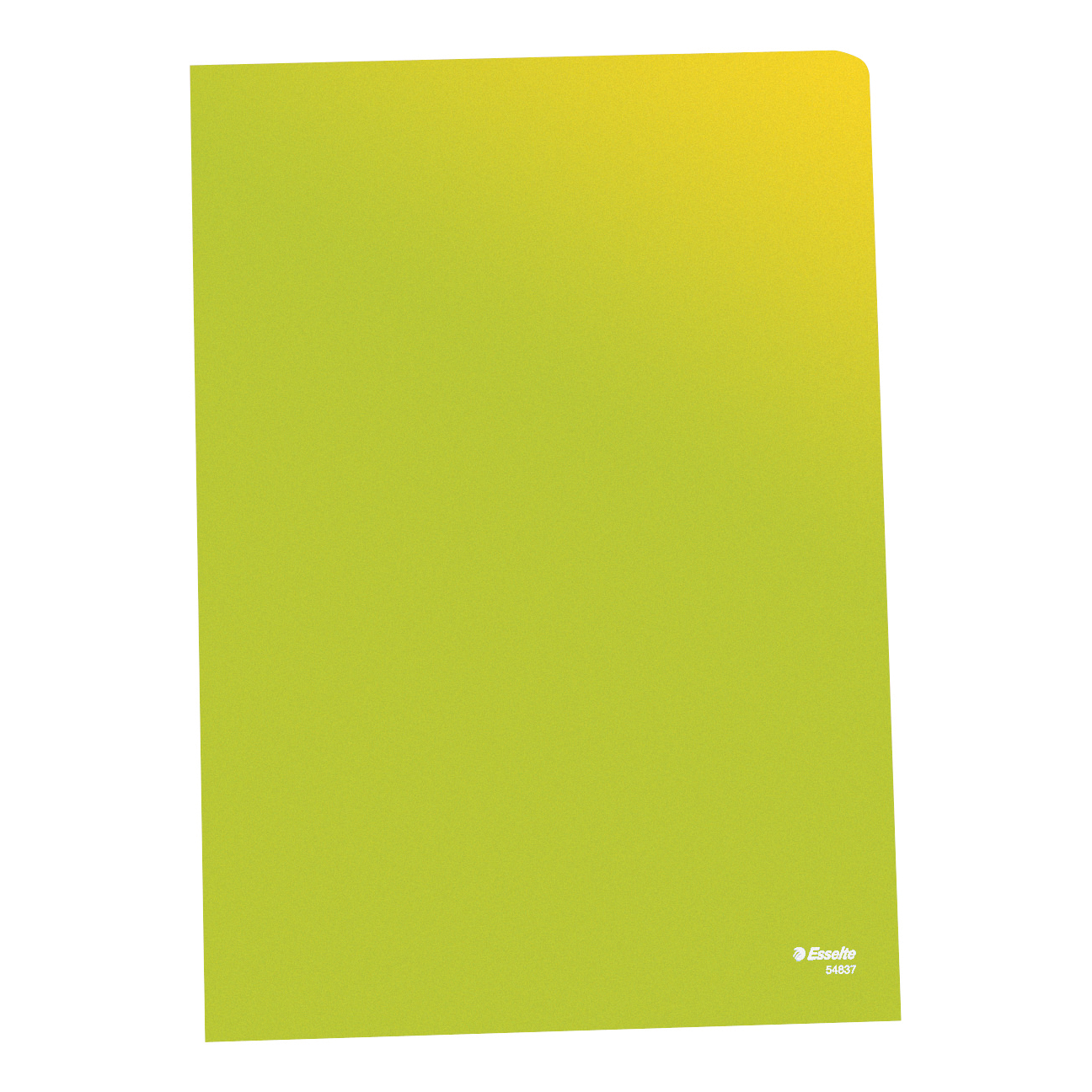 Esselte Copy-safe Folder Plastic Cut Flush A4 Green Ref 54838 Pack 100