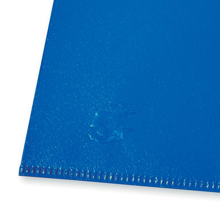 Image for 5 Star Office Folder Embossed Cut Flush Polypropylene Copy-safe Translucent 110 Micron A4 Blue [Pack 25]