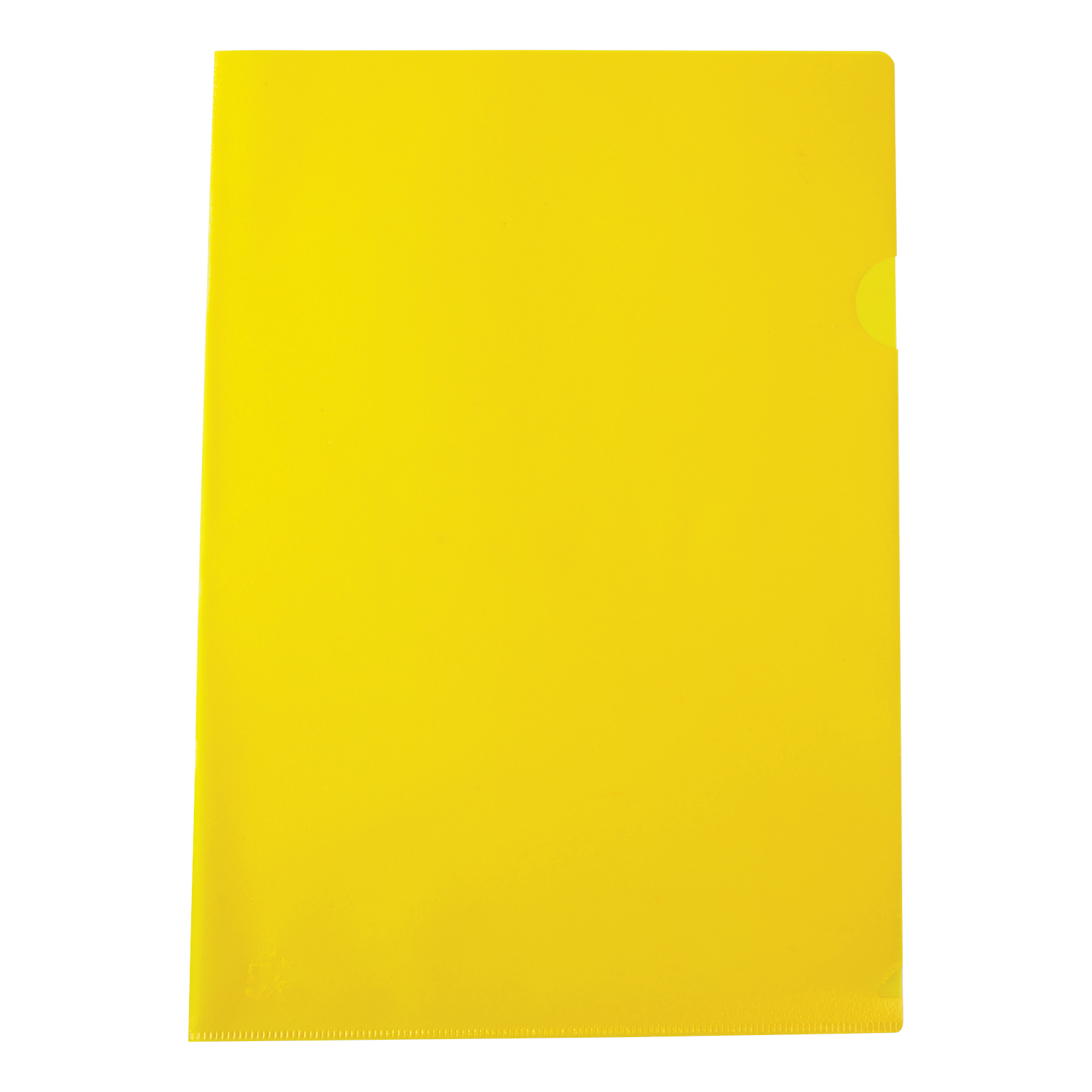 Image for 5 Star Office Folder Cut Flush Polypropylene Copy-safe Translucent 120 Micron A4 Yellow [Pack 25]