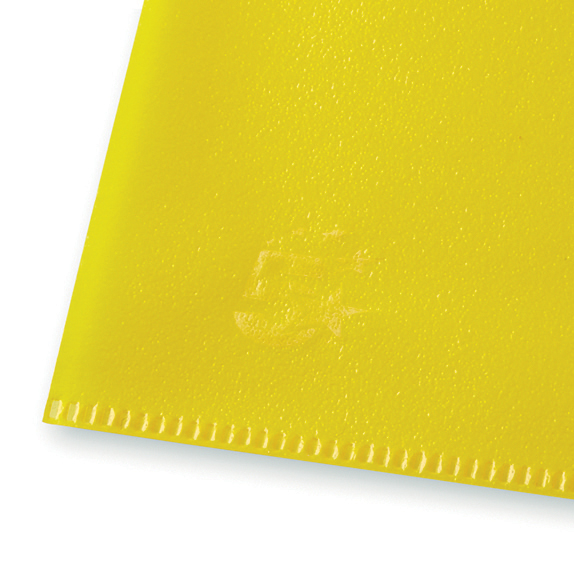 Image for 5 Star Office Folder Embossed Cut Flush Polypropylene Copy-safe Translucent 110 Micron A4 Yellow [Pack25]
