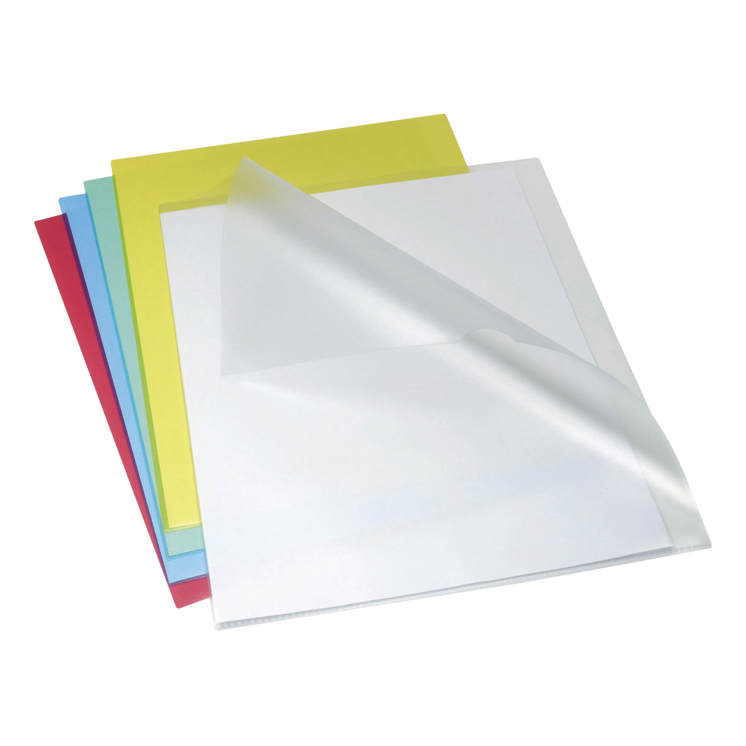 Rexel Anti Slip Folders Cut Flush Polypropylene High Grip 150micron Clear Ref 2102211 Pack 25