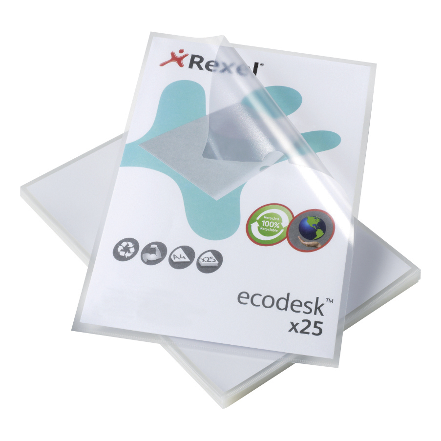 Rexel Eco-Filing Folder Cut Flush Recycled Polypropylene Anti-glare Finish A4 Ref 2102243 Pack 25