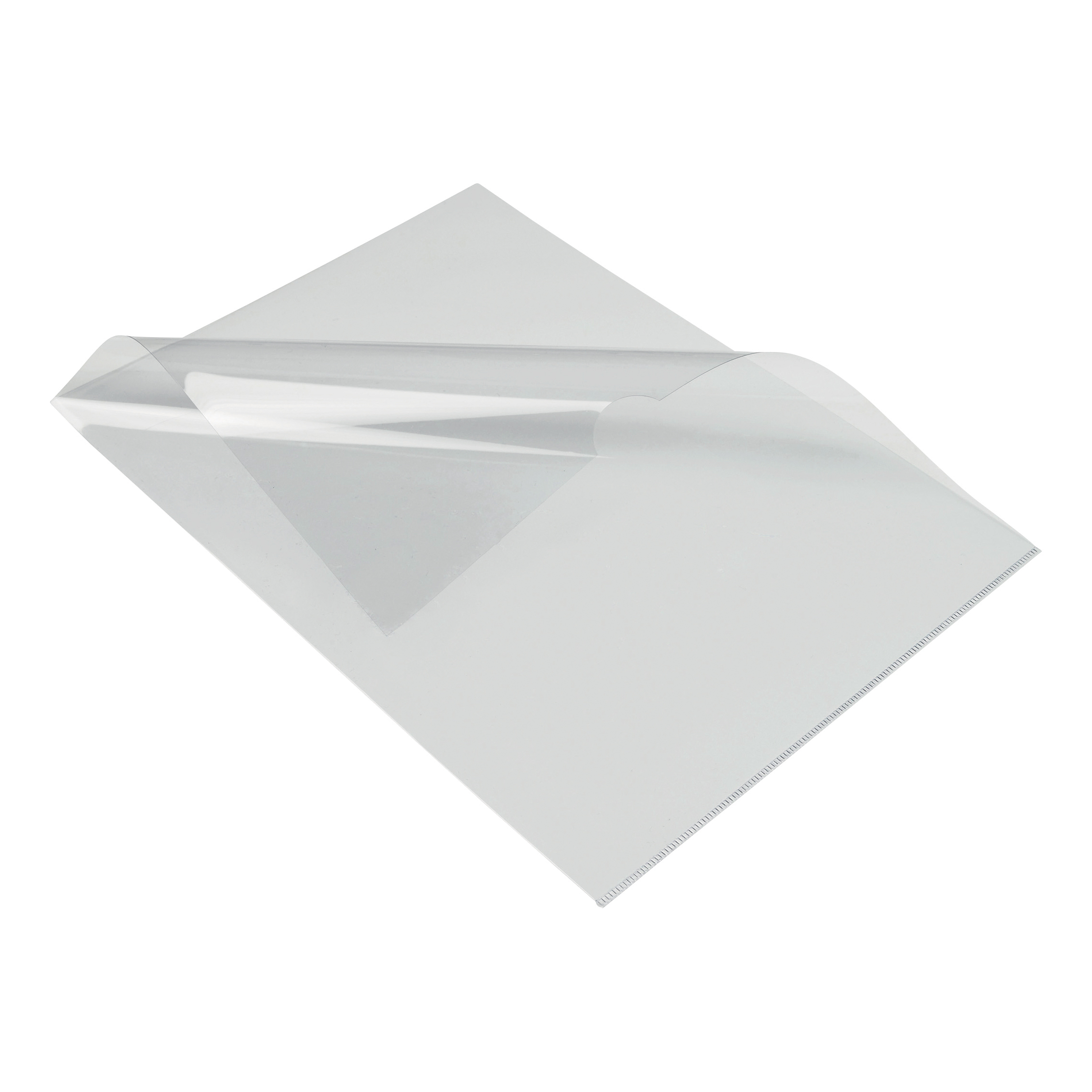 Clip Files 5 Star Elite Folder Cut Flush PVC Top and Side Opening 135 Micron A4 Glass Clear Pack 50
