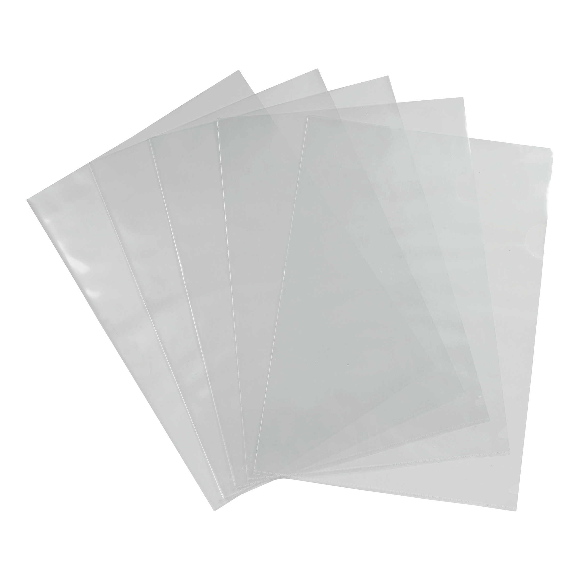 Clip Files 5 Star Office Folder Cut Flush Polypropylene Top and Side Opening 90 Micron A4 Glass Clear Pack 100