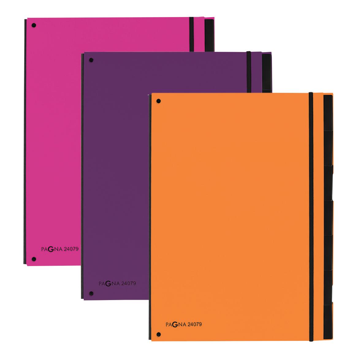 Pagna Master Organiser Hardback 12 Part Elasticated Strap A4 Pink Ref 2407934 Pack 8