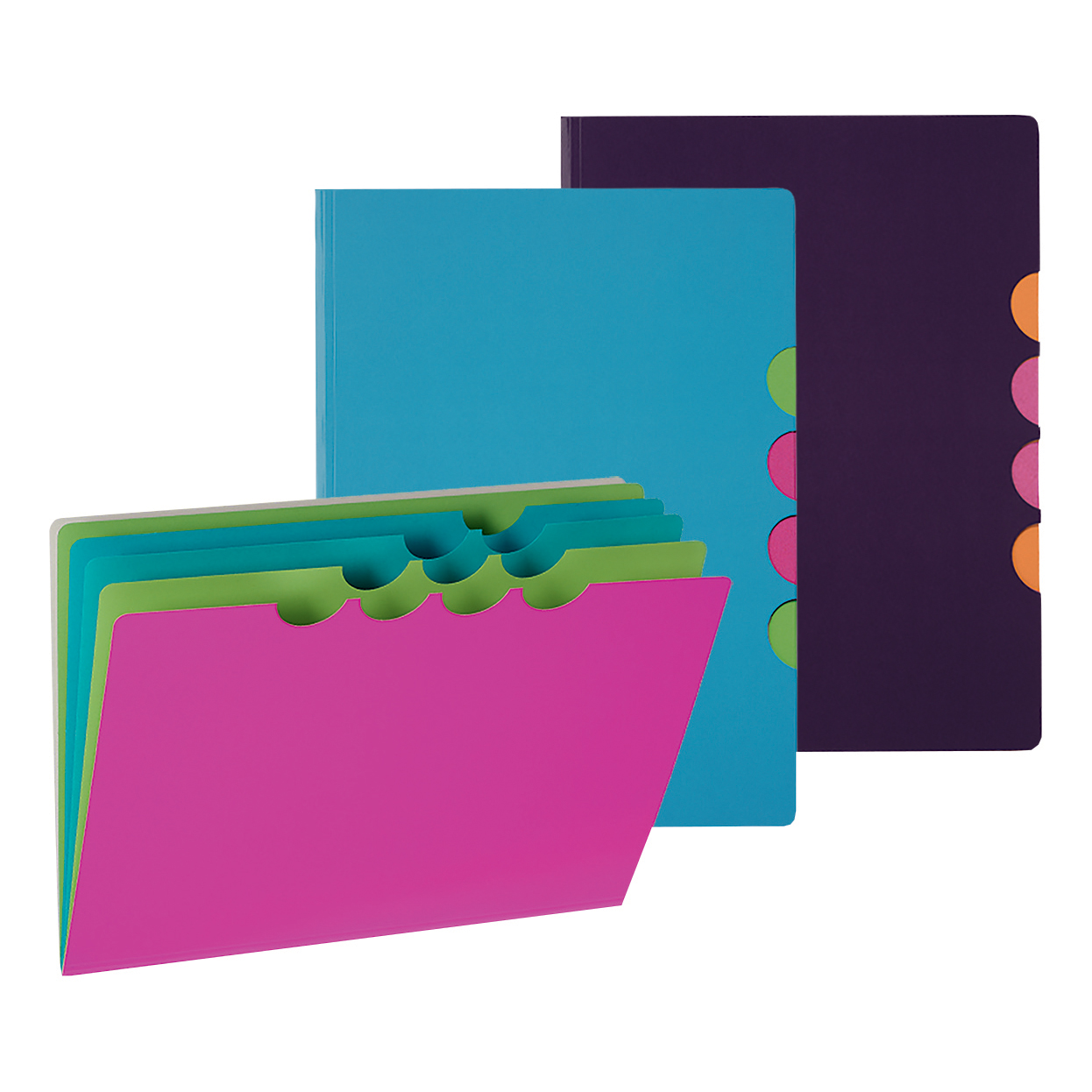 Pagna Millenials Part File with Five Coloured Compartments A4 Pink Ref 4180534 Pack 5