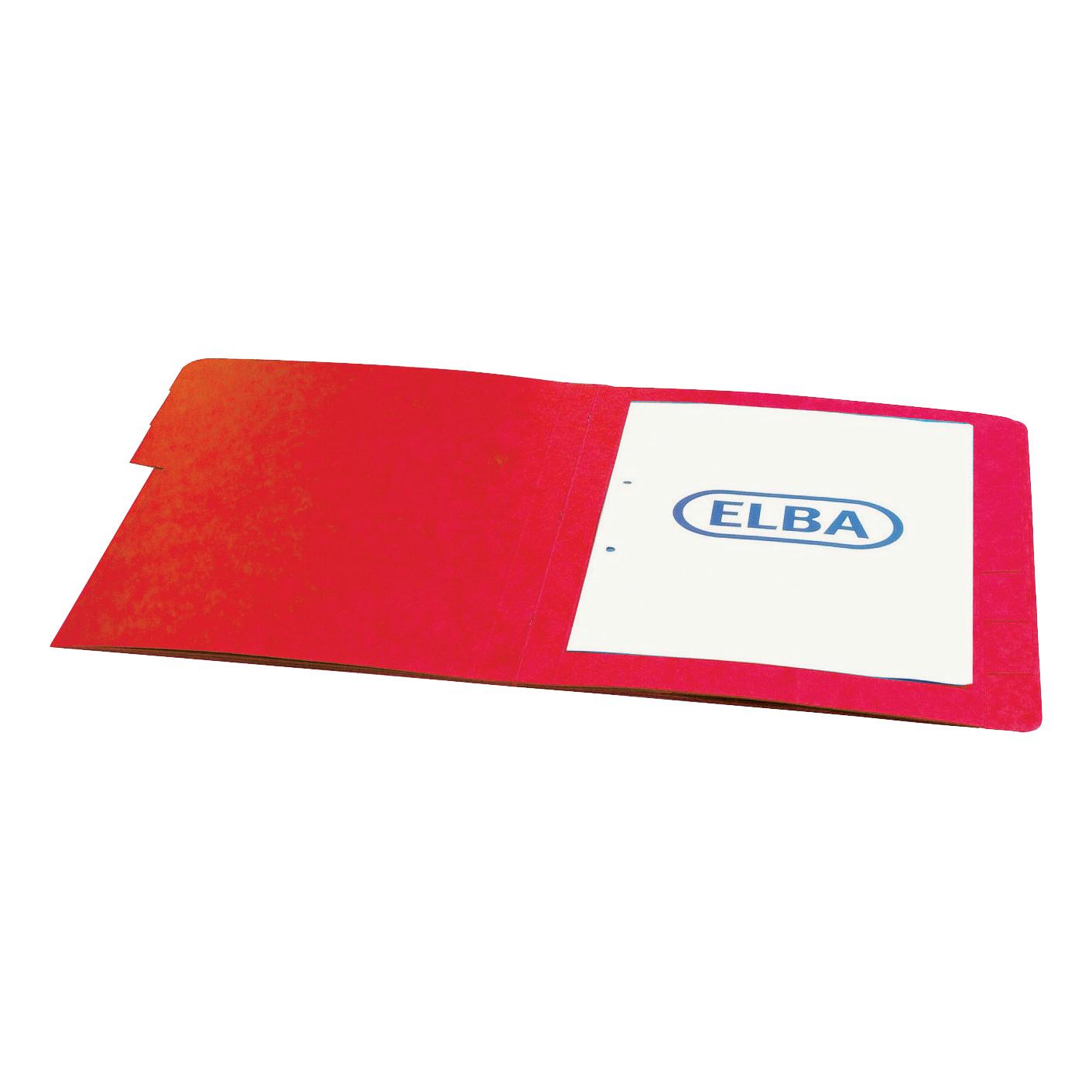 Elba Boston Part File 320gsm Manilla Elasticated 5-Part Foolscap Red Ref 100090167 Pack 5
