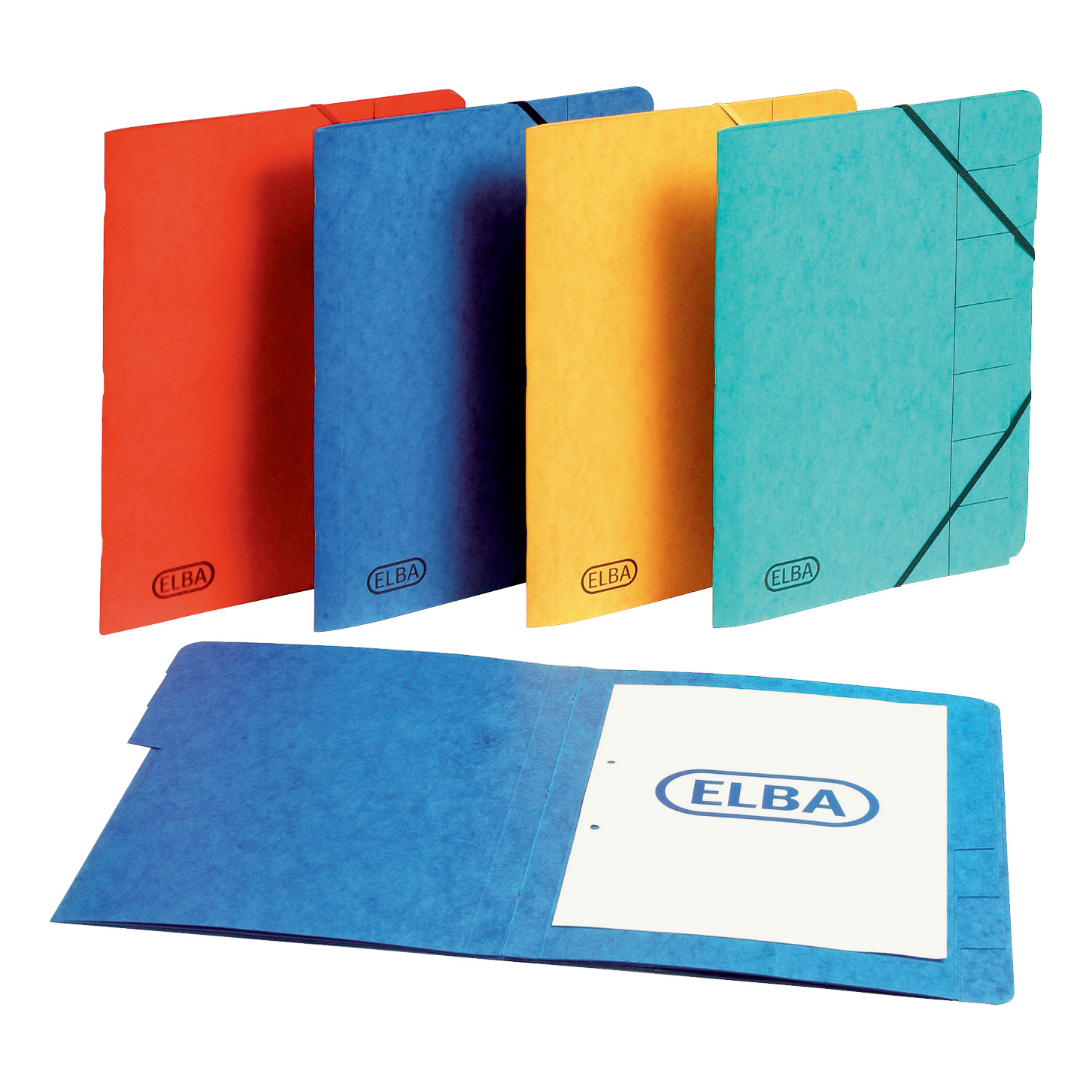 Elba Boston Part File 320gsm Manilla Elasticated 9-Part Foolscap Red Ref 100090174 Pack 5