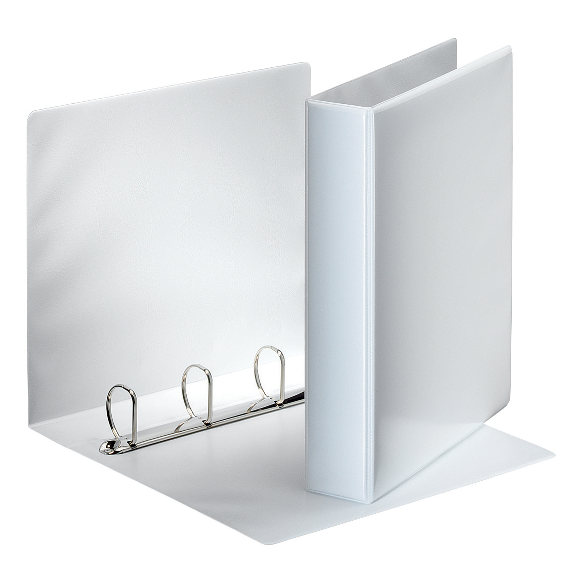 Esselte Presentation Ring Binder Polypropylene 4 D-Ring 40mm A4 White Ref 49704 Pack 10