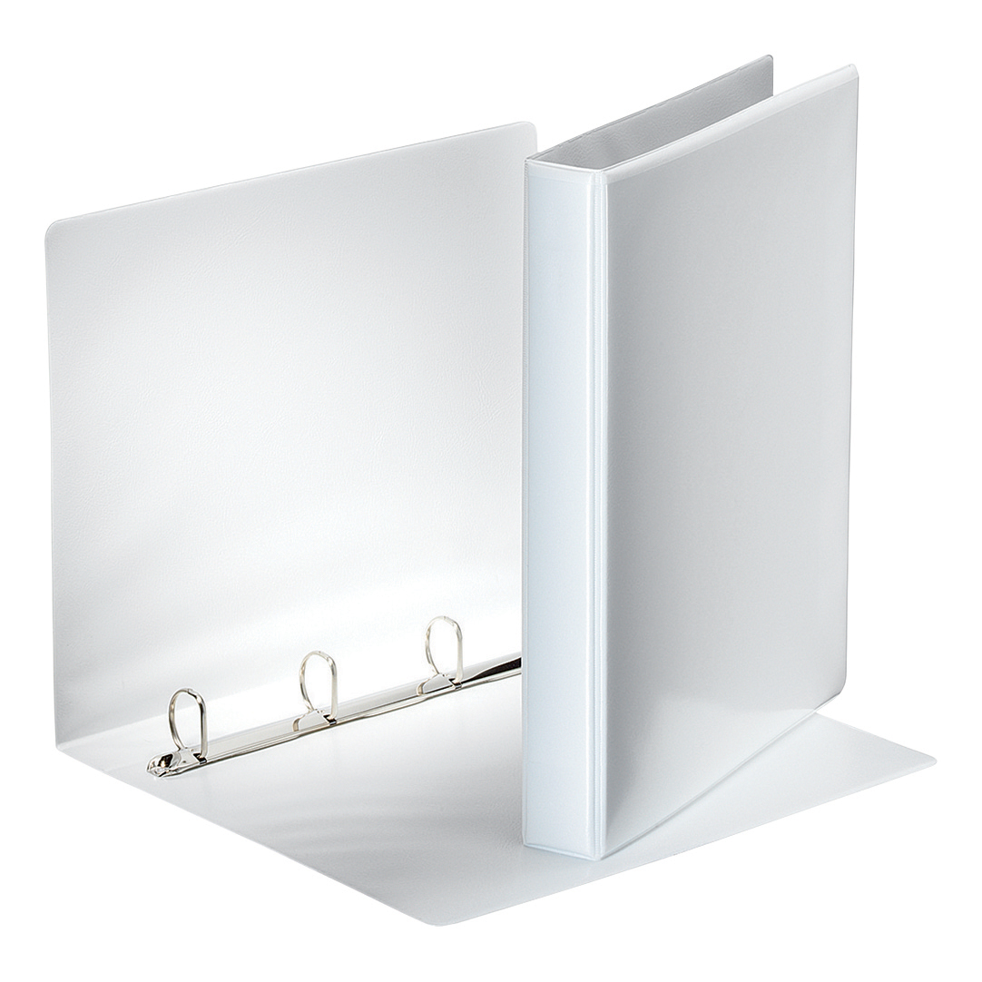 Esselte Presentation Ring Binder Polypropylene 4 D-Ring 25mm A4 White Ref 49702 Pack 10