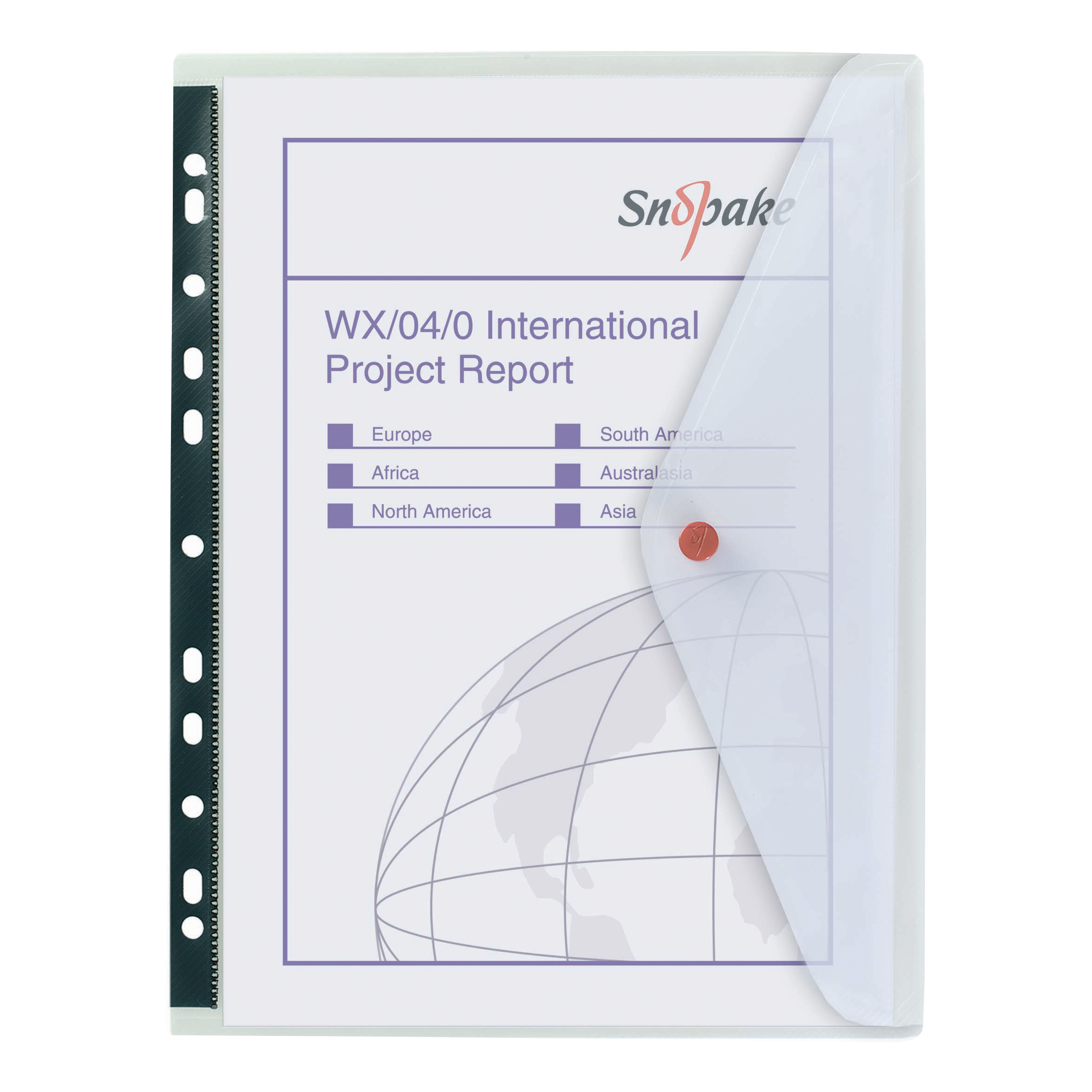 Snopake Polyfile Ring Binder Wallet Polypropylene A4 Clear Ref 12566 Pack 5