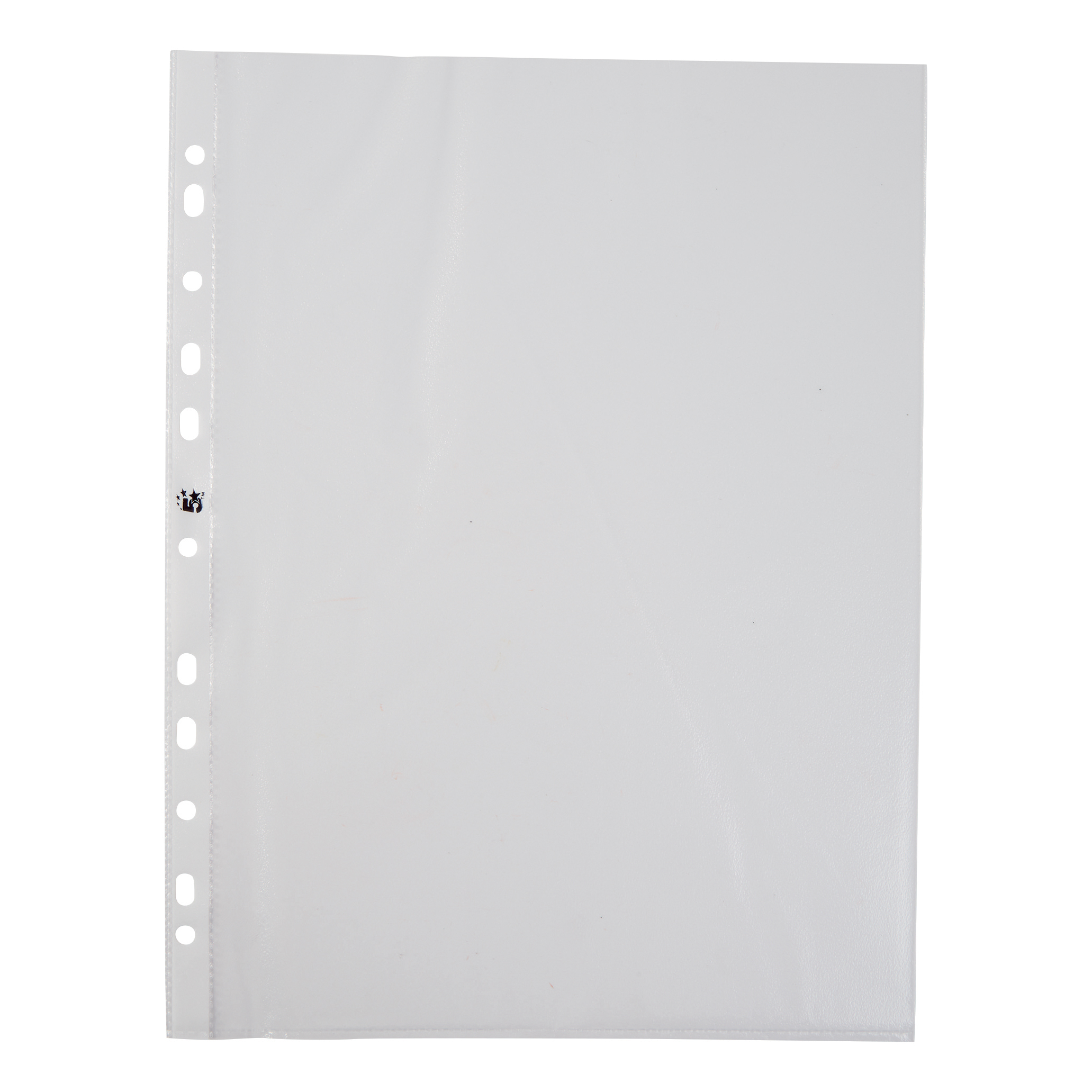 5 Star Office Punched Pocket Embossed Polypropylene Top-opening 40 Micron A4 Clear [Pack 100]