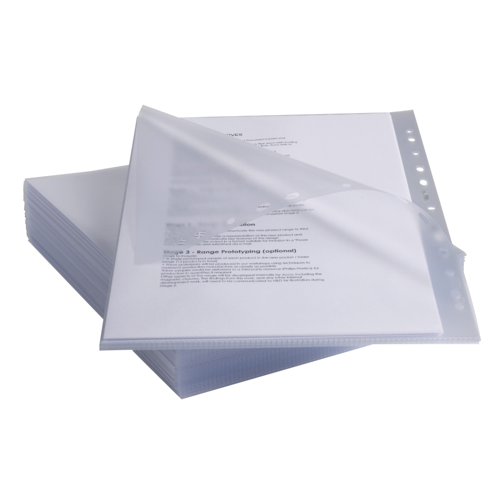 Rexel Anti Slip Pockets Polypropylene Top and Side-opening 130 Micron A4 Clear Ref 2102180 [Pack 25]