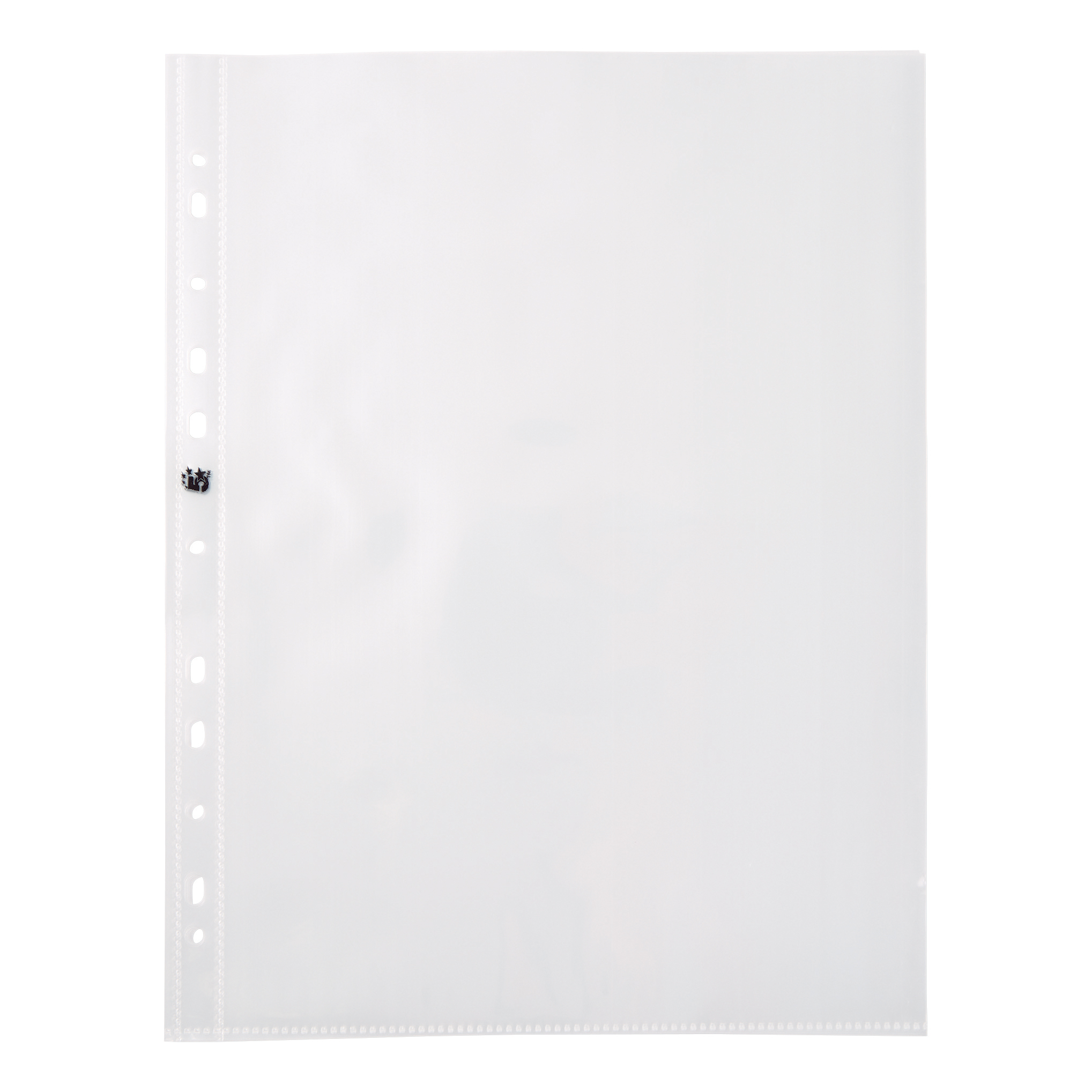 5 Star Elite Presentation Punched Pocket Polypropylene Top-opening 90 Micron A4 Glass Clear [Pack 10]