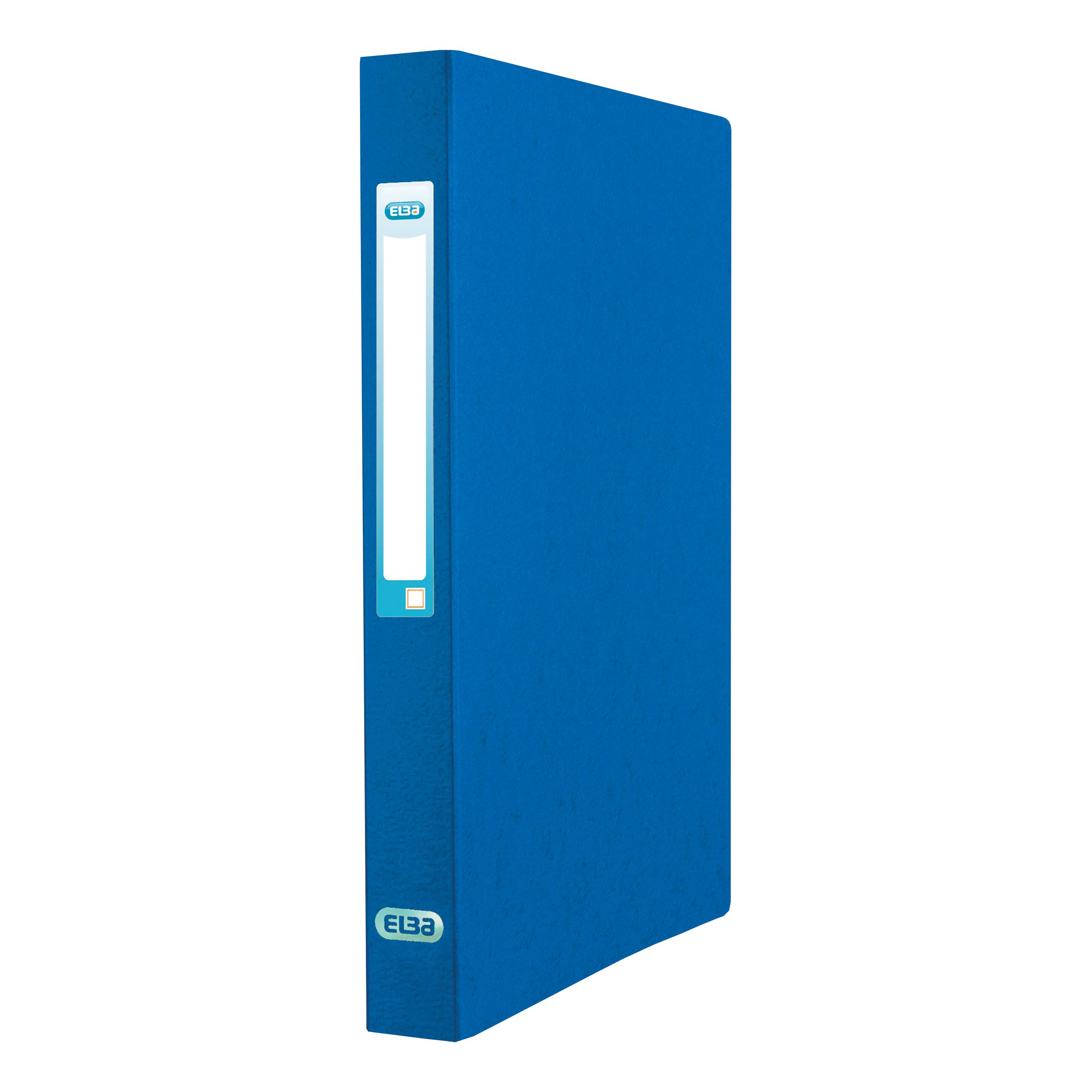 Elba Eurofolio Ring Binder Pressboard 2 O-Ring Size 25mm A4 Blue Ref 100201469 [Pack 10]