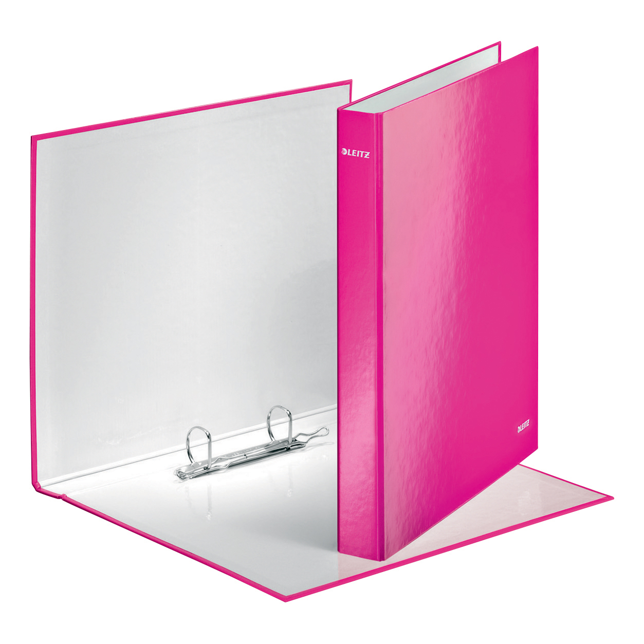 Leitz WOW Ring Binder 2 D-Ring 25mm Size A4 Pink Ref 42410023 Pack 10