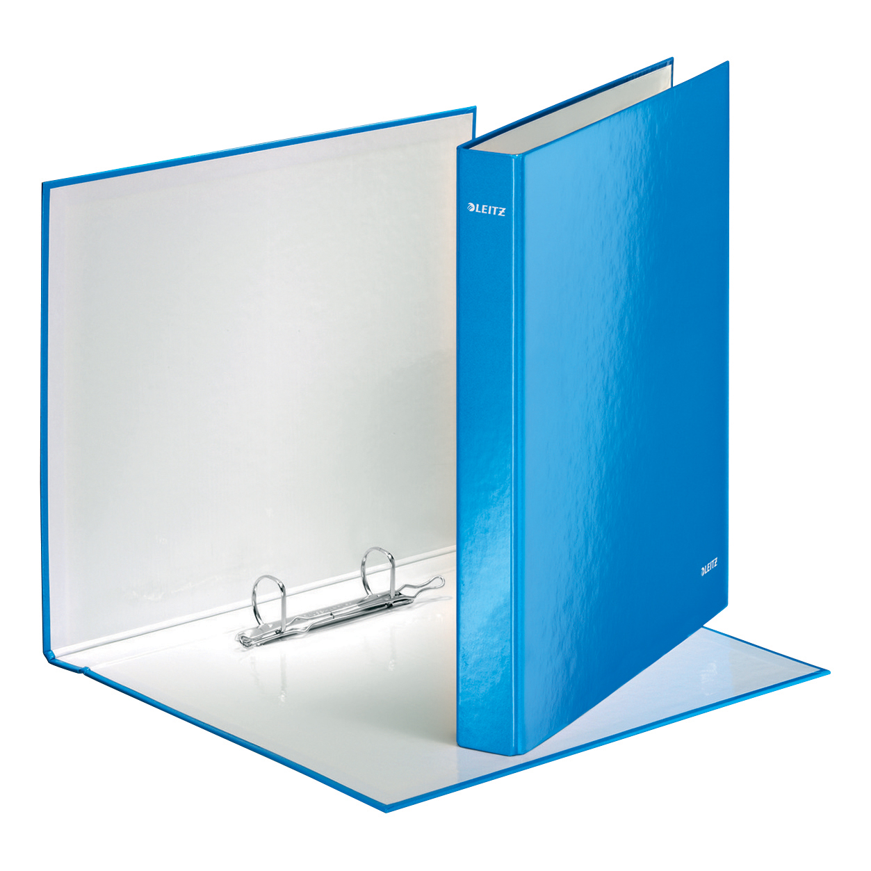 Leitz WOW Ring Binder 2 D-Ring 25mm Size A4 Blue Ref 42410036 [Pack 10]