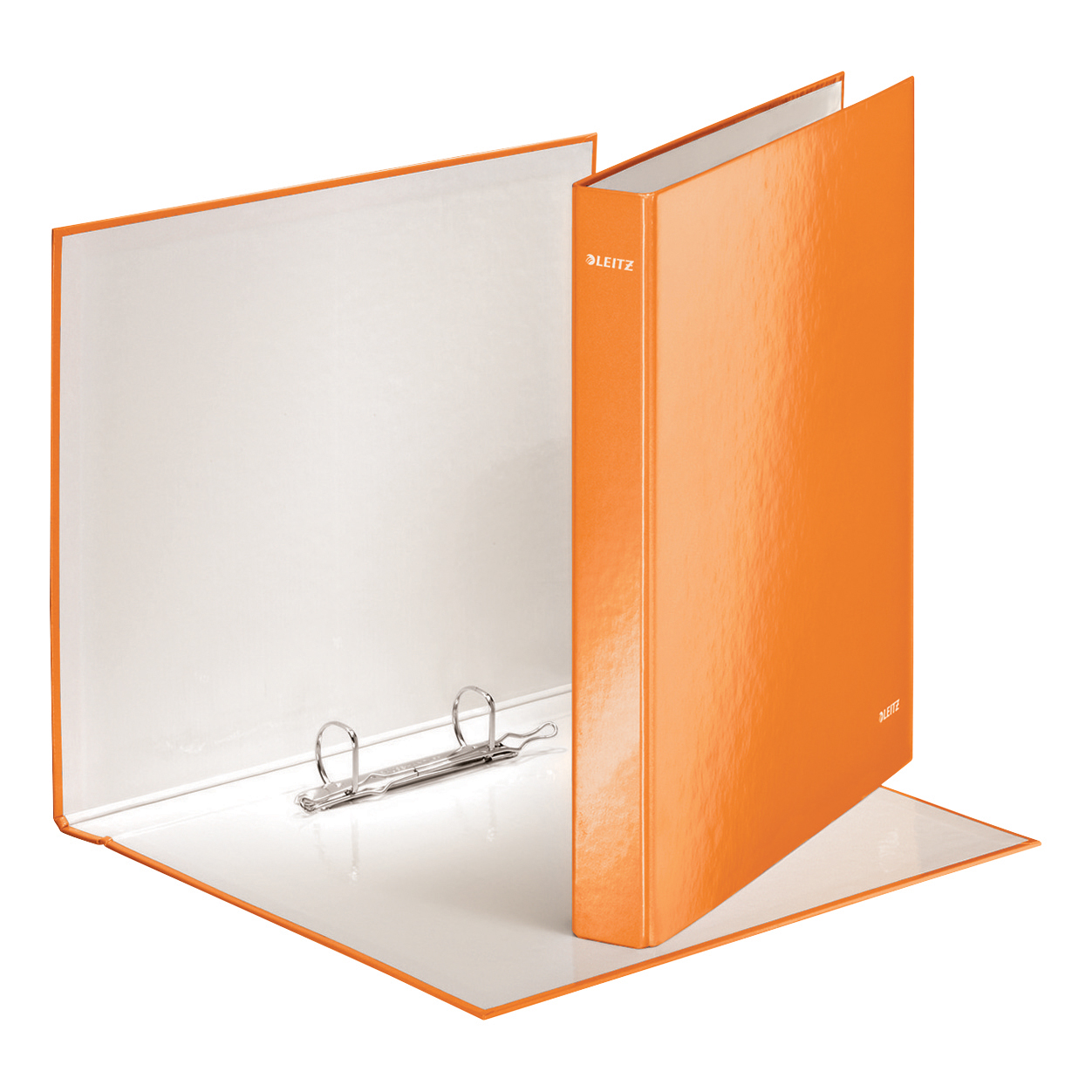 Leitz WOW Ring Binder 2 D-Ring 25mm A4 Orange Ref 42410044 Pack 10