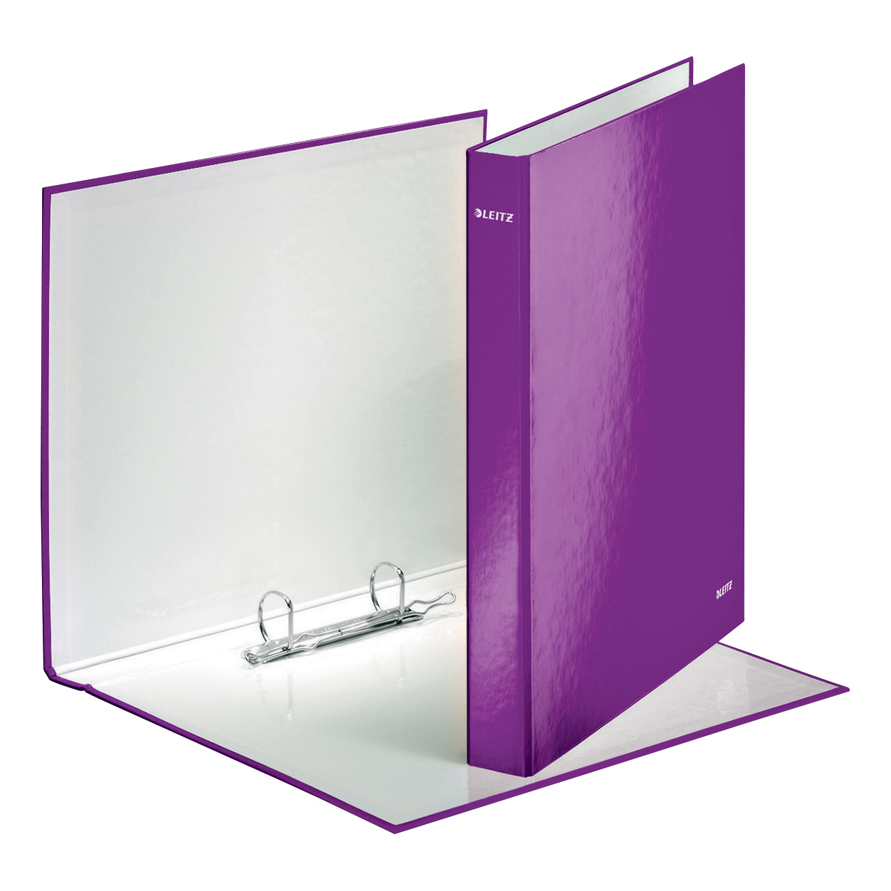 Leitz WOW Ring Binder 2 D-Ring 25mm Size A4 Purple Ref 42410062 Pack 10