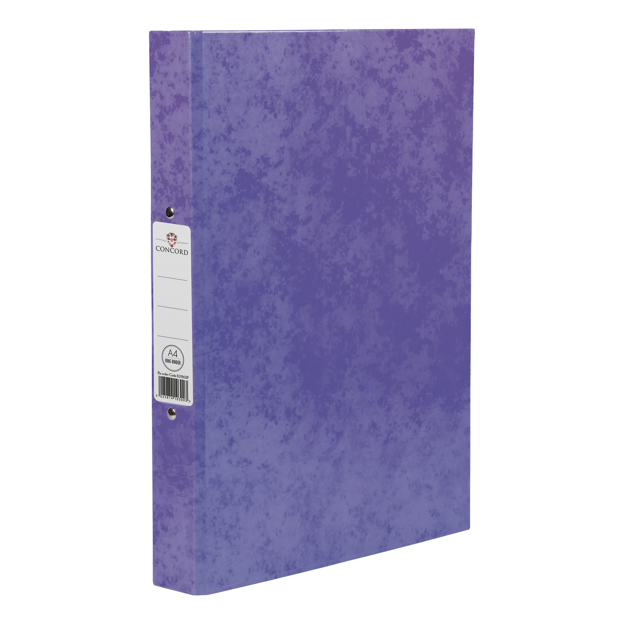Concord Contrast Ring Binder Laminated 2 O-Ring Capacity 25mm A4 Purple Ref 82196 [Pack 10]