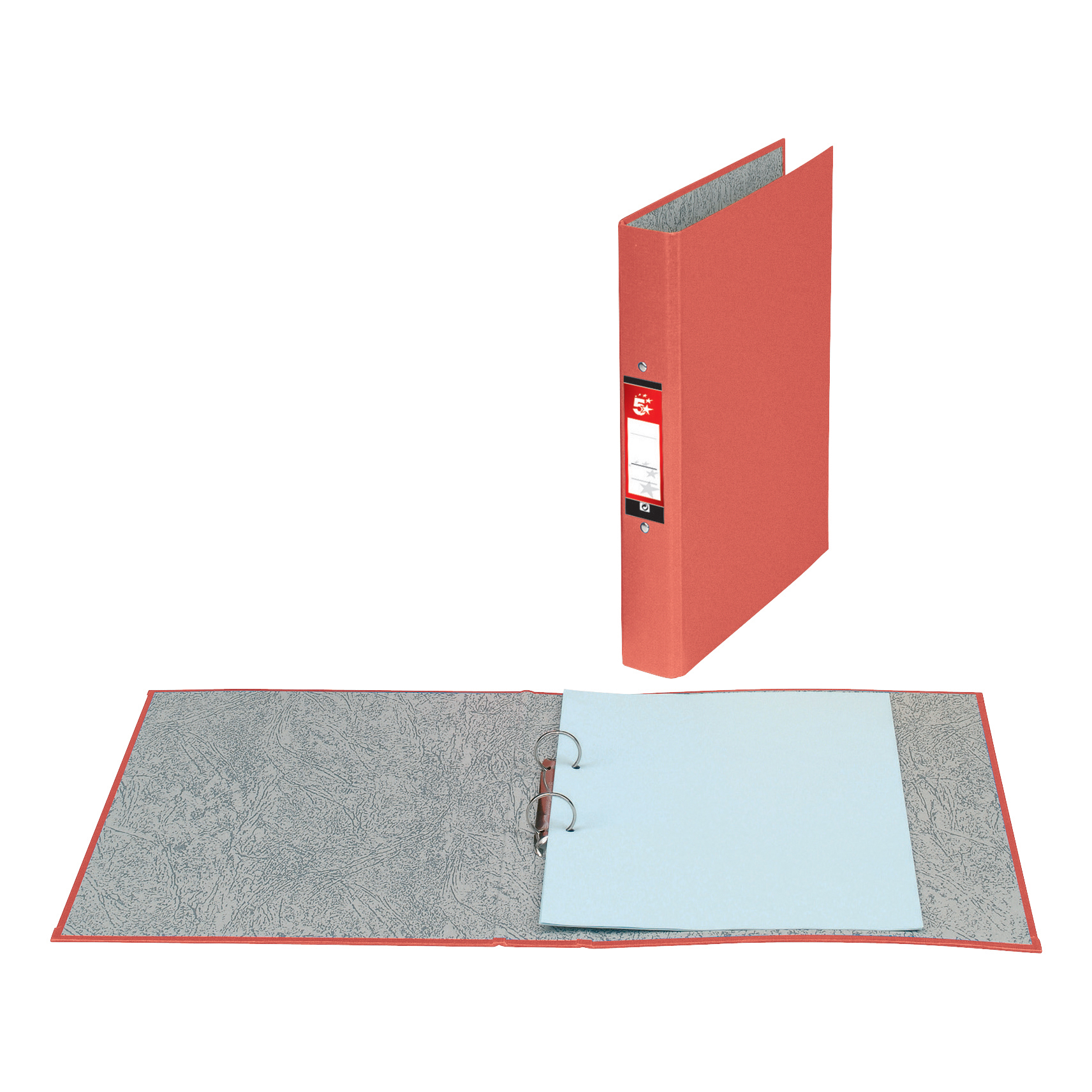 Ring Binders 5 Star Office Ring Binder 2 O-Ring Size 25mm Paper on Board A4 Red Pack 10