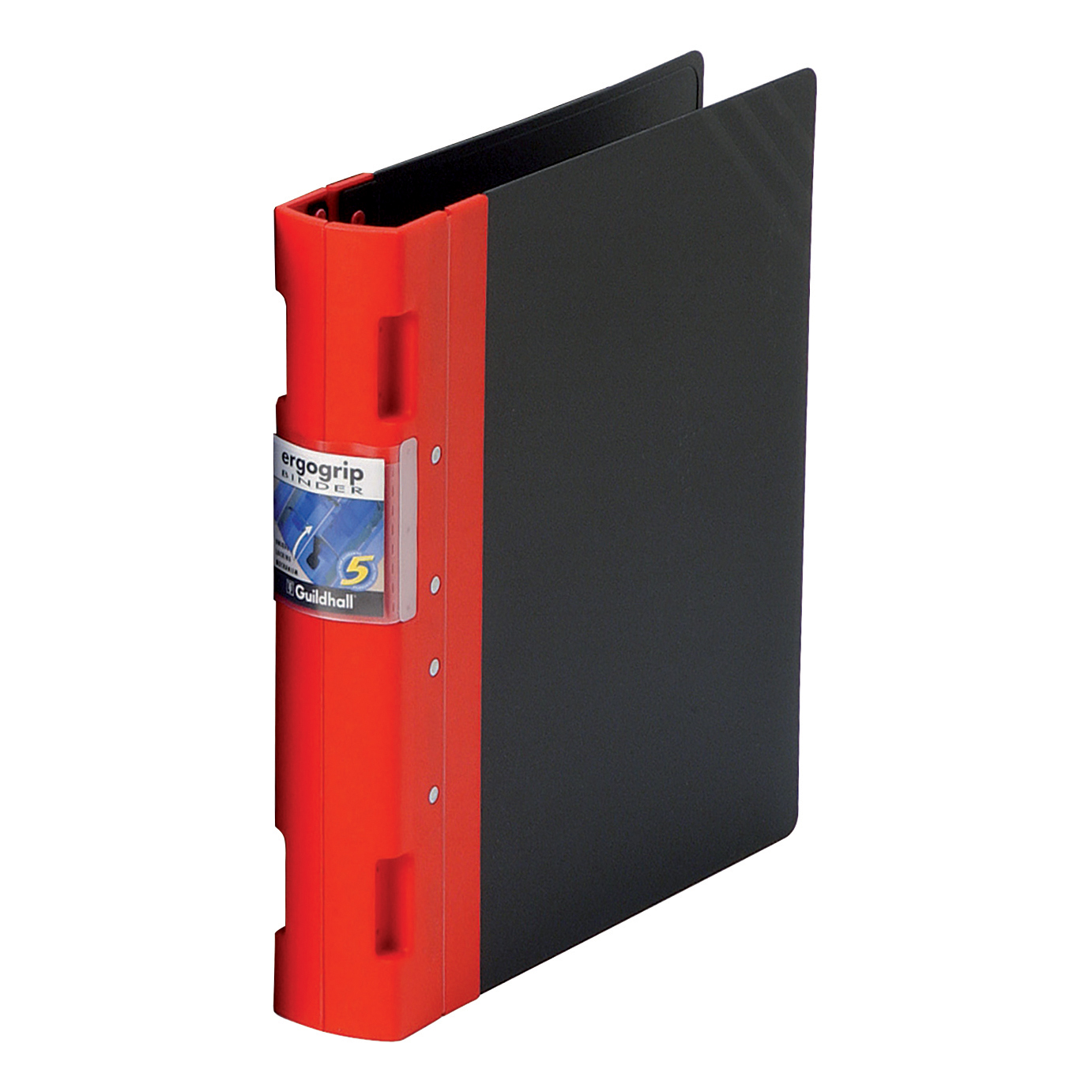 Guildhall GLX Ergogrip Binder Capacity 400 Sheets 4x 2 Prong 55mm A4 Red Ref 4533Z Pack 2