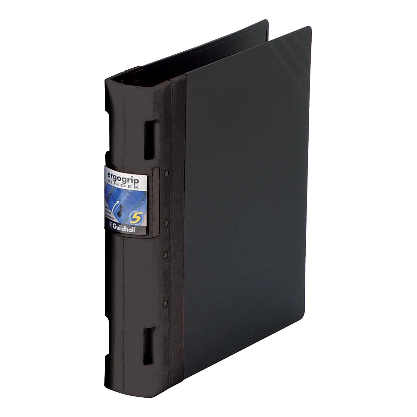 Guildhall GLX Ergogrip Binder Capacity 400 Sheets 4x 2 Prong 55mm A4 Black Ref 4537Z [Pack 2]