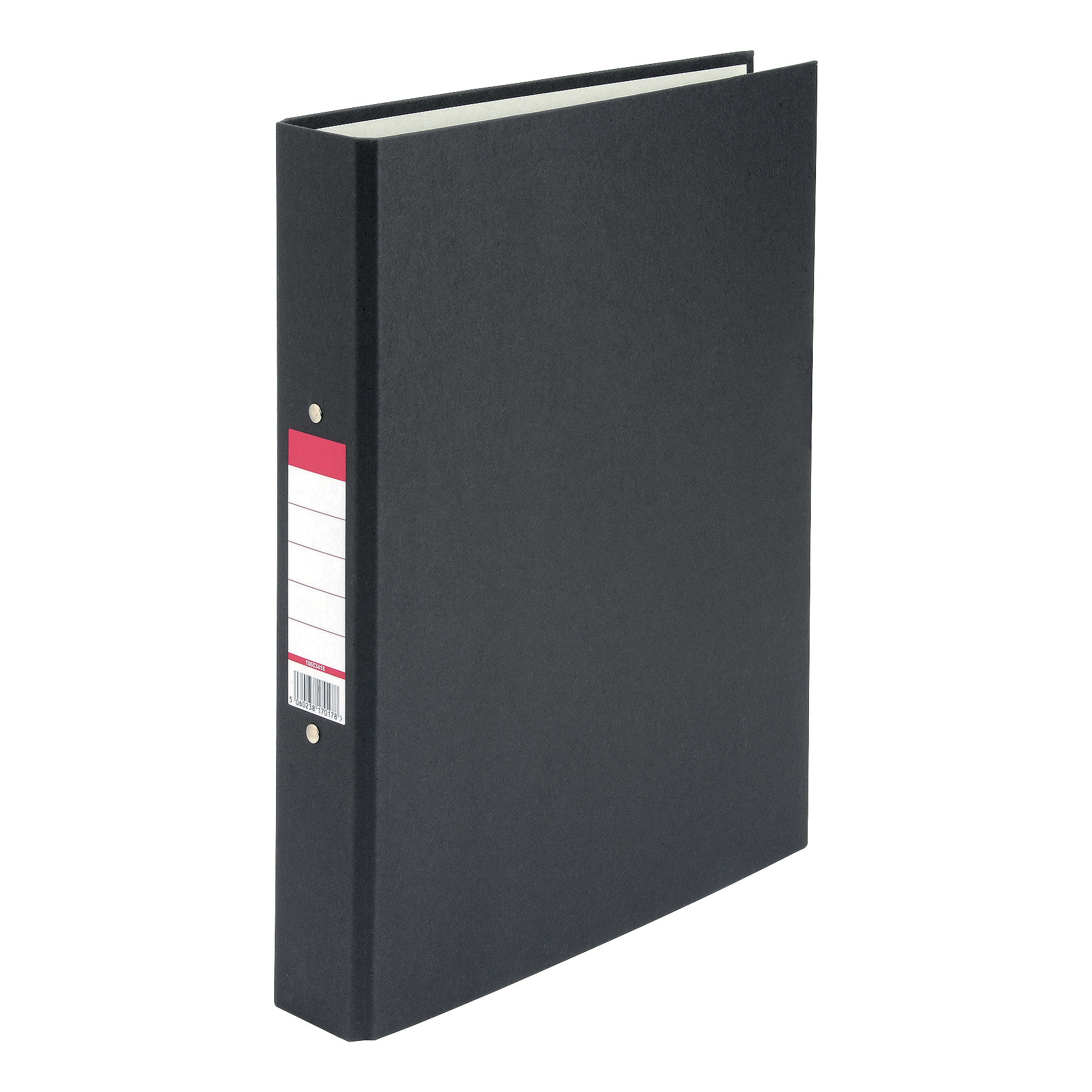 Ring Binders 5 Star Value Ring Binder 2 O-Ring Paper Over Board Size 25mm A4 Black Pack 10