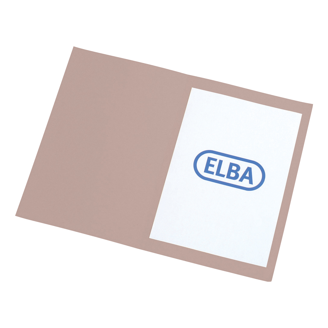 Elba A4 Square Cut Folder Recycled Lightweight 180gsm Manilla Buff Ref 100090117 [Pack 100]