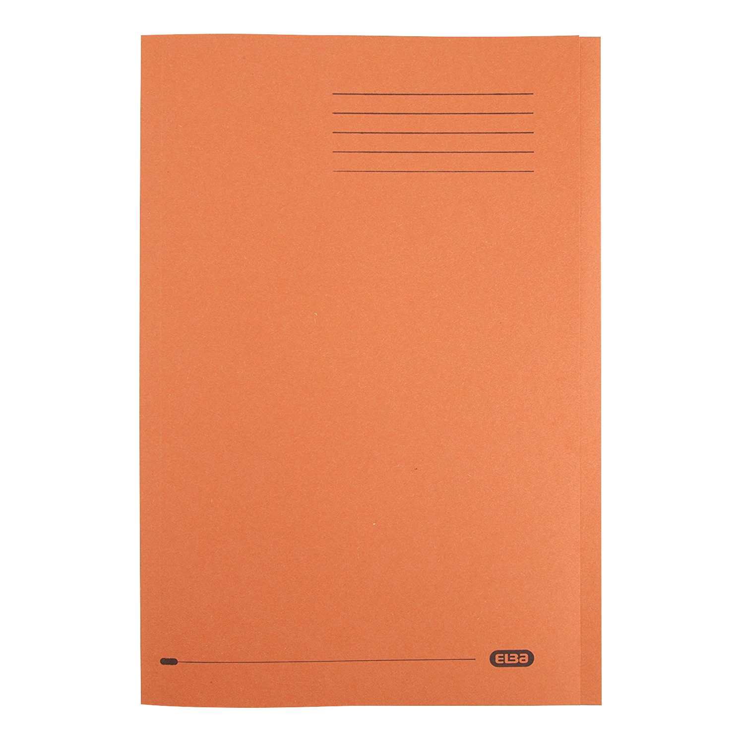 Elba Foolscap Square Cut Folder Recycled Mediumweight 285gsm Manilla Orange Ref 100090220 Pack 100