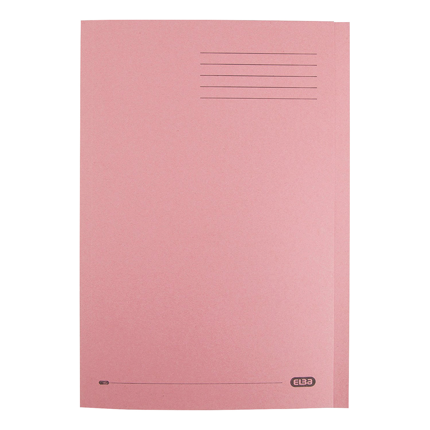 Elba Foolscap Square Cut Folder Recycled Mediumweigh 285gsm Manilla Pink Ref 100090221 Pack 100